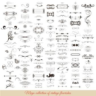 Decoratieve ornamenten collectio