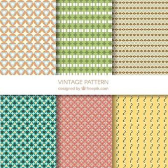 Decoratieve patronen van abstracte vormen