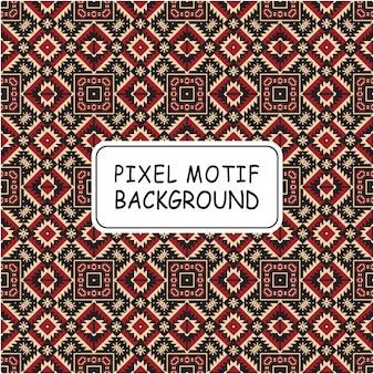 Decoratieve pixel motief naadloze patroon achtergrond