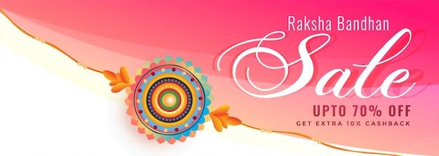 Decoratieve rakhi verkoopbanner voor raksha bandhan