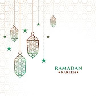 Decoratieve ramadan kareem achtergrond