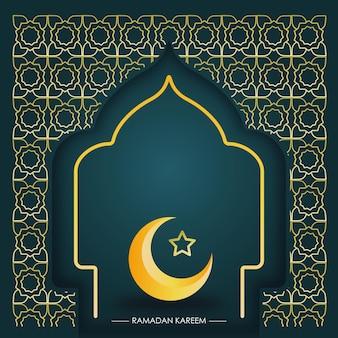 Decoratieve ramadan