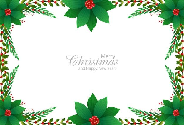 Decoratieve rand van takken van een kerstversiering