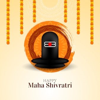 Decoratieve religieuze maha shivratri festival wenskaart