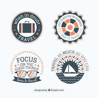 Decoratieve retro reis stickers