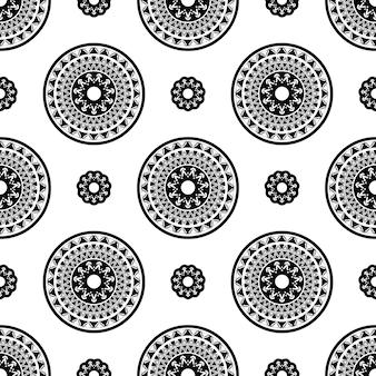 Decoratieve ronde bloemenachtergrond. naadloze patroon voor uw ontwerp wallpapers, opvulpatronen, webpagina-achtergronden, oppervlaktestructuren.