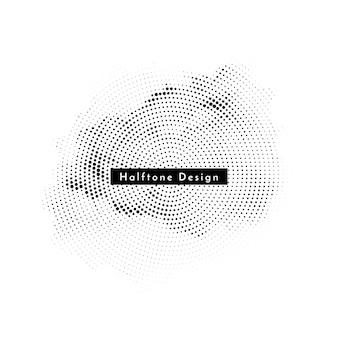 Decoratieve ronde halftone elegante ontwerp achtergrond vector Gratis Vector