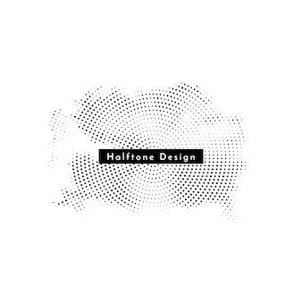 Decoratieve ronde halftone elegante ontwerp achtergrond vector