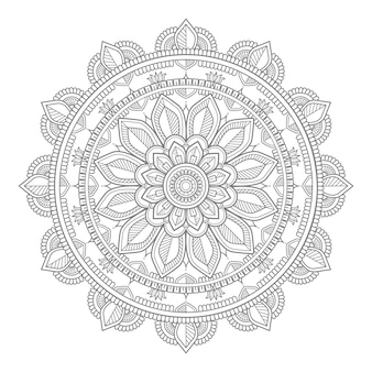 Decoratieve ronde ornament mandala illustratie
