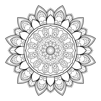 Decoratieve ronde ornament overzicht mandala.