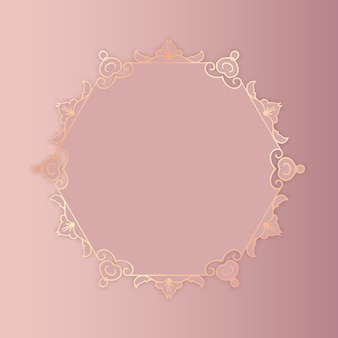 Decoratieve roségouden achtergrond met een elegant frame