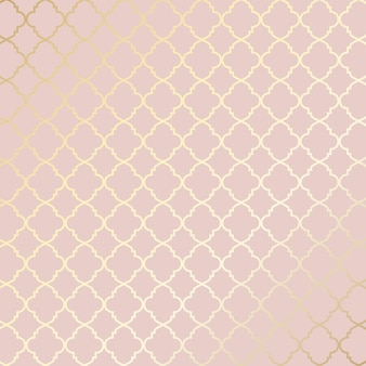 Decoratieve roségouden etnische patroonachtergrond