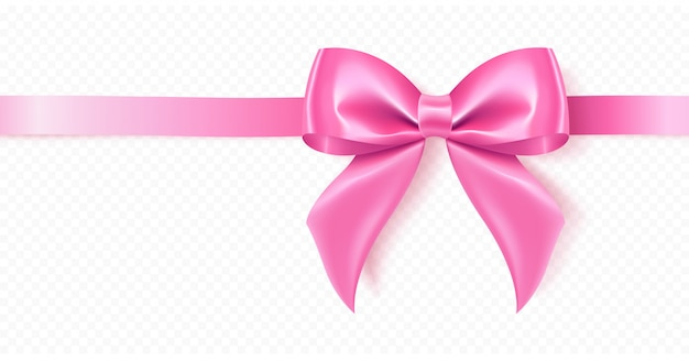 Decoratieve roze strik.
