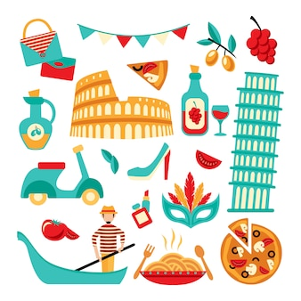 Decoratieve set van italië