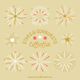 Decoratieve sterren zonnestraal collectie