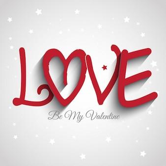 Decoratieve tekst ontwerp voor valentijnsdag