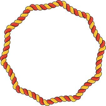 Decoratieve touwrandframes sale tag korting prijslabel frame en rand voor tekst