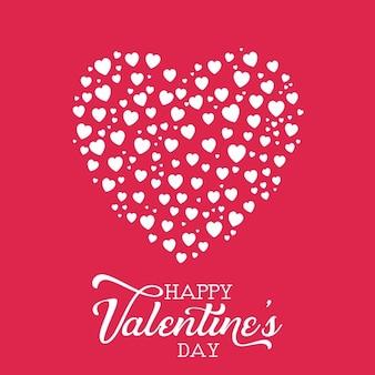 Decoratieve valentines day achtergrond met hart ontwerp