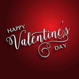Decoratieve valentines day achtergrond met typografieontwerp