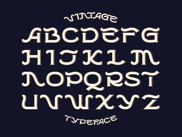 Decoratieve vector lettertypeset
