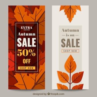 Decoratieve verkoop banners met kortingen