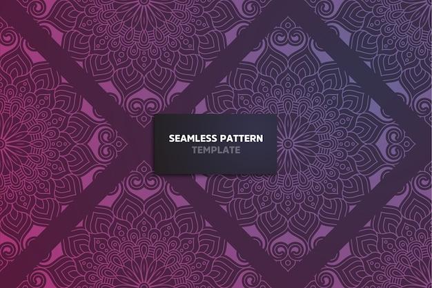Decoratieve versiering mandala naadloze patroon.