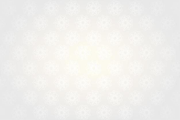 Decoratieve vintage witte ontwerp achtergrond