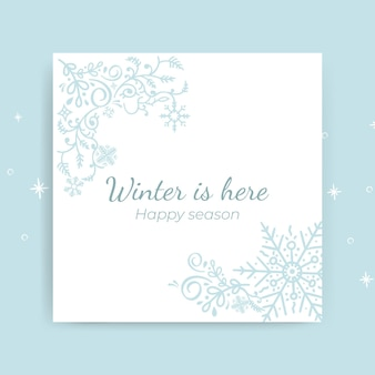 Decoratieve winter kaartsjabloon