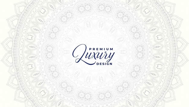 Decoratieve witte mandala decoratieve achtergrond ontwerpsjabloon