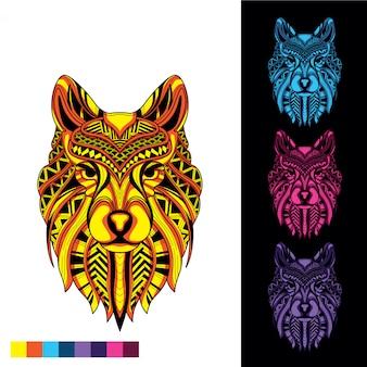 Decoratieve wolf gloeit in het donker