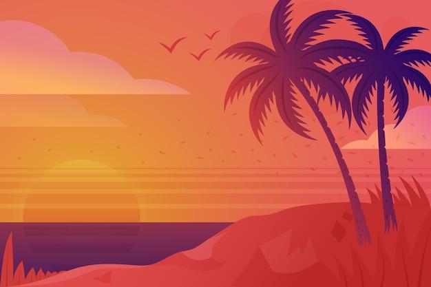Decoratieve zomer achtergrond concept