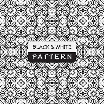 Decoratieve zwart-wit patroon achtergrond