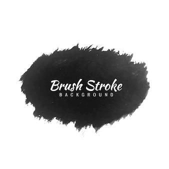 Decoratieve zwarte penseelstreek aquarel modern design design