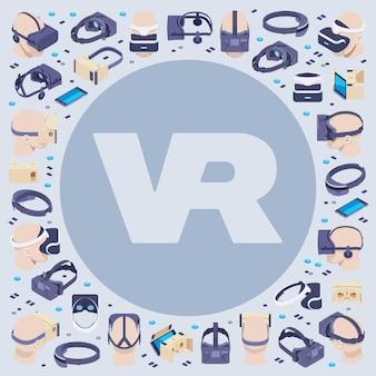 Decoreren gemaakt van isometrische virtual reality-headsets