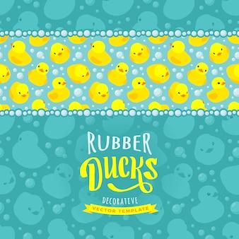 Decoreren ontwerp gemaakt van gele badeendjes
