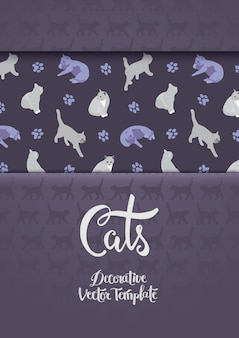 Decoreren van ontwerp met de katten