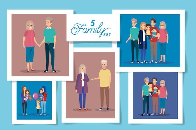 Decorontwerpen van familieleden