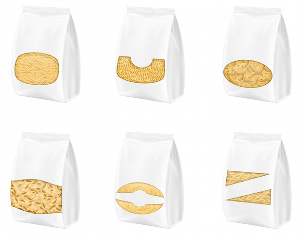 Deegwaren in lege verpakking vectorillustratie