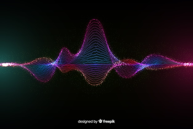 Deeltjes geluidsgolf achtergrond
