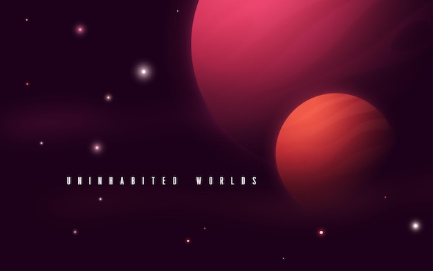 Deep space sci-fi abstract vector illustratie.