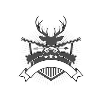 Deer hunter badge design