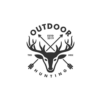 Deer hunting concept illustratie vector sjabloon
