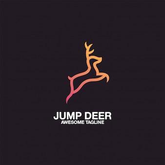 Deer logo design geweldige inspiratie-inspiratie