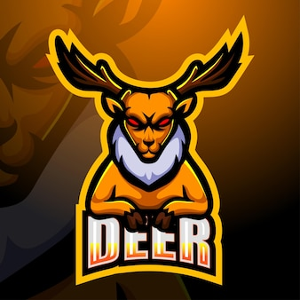 Deer mascotte esport illustratie