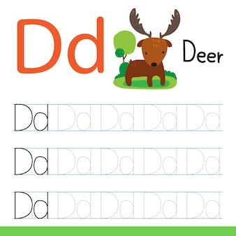 Deer tekening lijn vector ontwerp