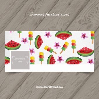 Dek af met watermeloenen