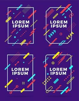 Dekt moderne abstracte geplaatste ontwerpmalplaatjes.