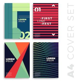 Dekt moderne abstracte ontwerpsjablonen set