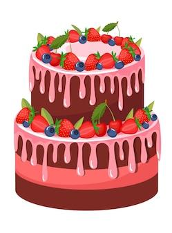 Delicate cupcake. cake met suikerglazuur.