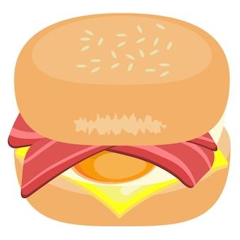Delicious bacon burger element creatie voedsel illustratie grafisch ontwerp